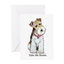Homeless Fox Terrier Greeting Card
