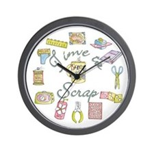 Time to Scrap Wall Clock by Leah