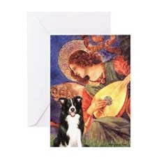 Angel (3) & Border Collie Greeting Card