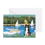 Sailboats & Border Collie Greeting Card