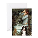 Ophelia & Border Collie Greeting Card