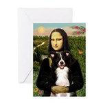 Mona & Border Collie Greeting Card