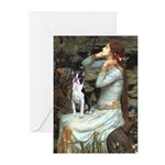 Ophelia & Boston Terrier Greeting Cards (Pk of 20)