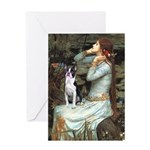 Ophelia & Boston Terrier Greeting Card