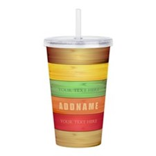 Personalized Colorful Acrylic Double-wall Tumbler
