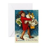 Joyous Christmas Vintage Greeting Cards (Pk of 10)