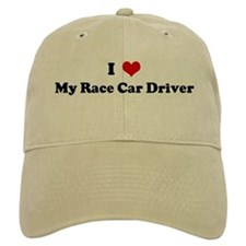 I Love My Race Car Driver Baseball Cap