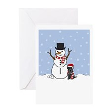Mini Schnauzer Holiday Greeting Card