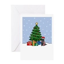Mini Schnauzer Holidays Greeting Card