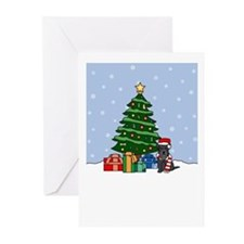 Mini Schnauzer Christmas Greeting Cards (Pk of 10)