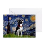 Starry Night Boston Ter Greeting Card