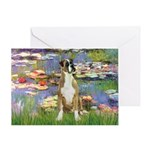 Lilies & Boxer Greeting Card