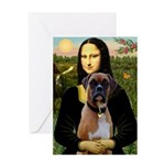 Mona & Boxer Greeting Card
