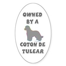 Coton Slvr Oval Decal