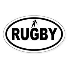 Rugby Oval Decal