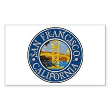 San Francisco California Rectangle Decal