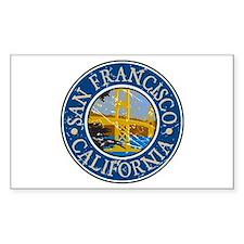 San Francisco California Rectangle Decal