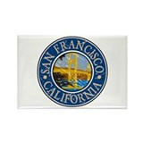 San Francisco California Rectangle Magnet