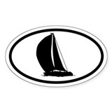 Sailboat Oval Bumper Stickers