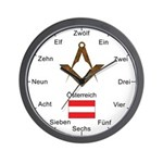 Austrian Masonic Wall Clock