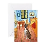 Room with a Boxer Greeting Card