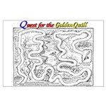 Quest For The Golden Quill Map Large Poster