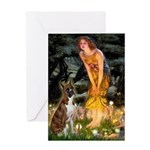 Fairies & Boxer Greeting Card