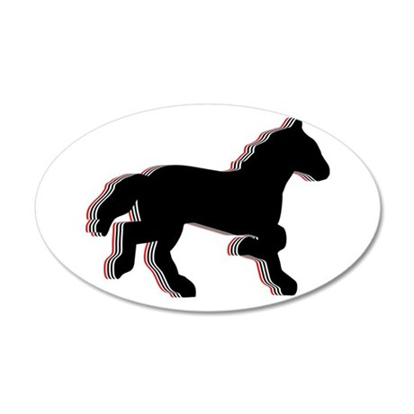 horse stacks Wall Decal
