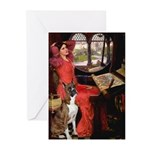 Lady & Boxer Greeting Cards (Pk of 20)