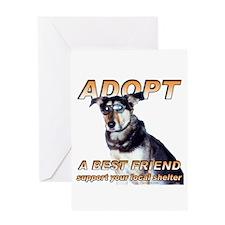 Adopt Best Friend Greeting Card
