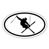 Aerial Skier Oval Decal