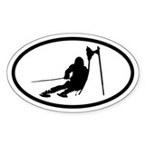 Ski Racer Oval Decal