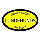 Spoiled Lundehunds On Board Oval  Aufkleber