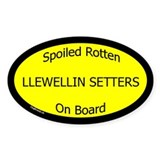 Spoiled Llewellin Setters On Board Oval Decal
