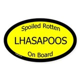 Spoiled Lhasapoos On Board Oval Decal