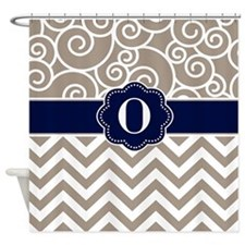 Unique Damask pattern Shower Curtain