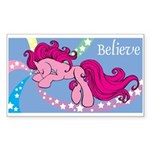 Pink Unicorn Rectangle Sticker