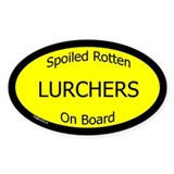 Spoiled Lurchers On Board Oval Decal