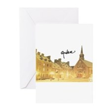 Inside Old Quebec with Signat Greeting Cards (Pk o
