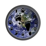Earth Footprints Wall Clock