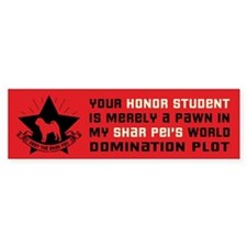 Shar Pei World Domination Bumper Bumper Sticker