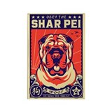 Obey the Shar Pei! Propaganda Magnet