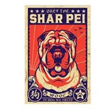 Obey the Shar Pei! Vintage Postcards -8 Pack!