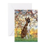 Spring with a Boxer Greeting Cards (Pk of 20)