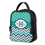 Chevron teal Lunch Bags