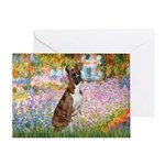 Garden & Boxer Greeting Card