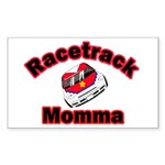 RaceTrack Momma Rectangle Sticker