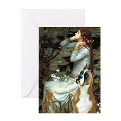Ophelia & Boxer Greeting Card