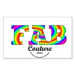 Fab Couture (Brand) Rectangle Sticker