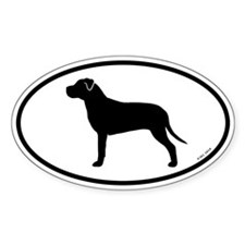 American Pit Bull Terrier Oval Decal